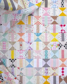 Two Block Patchwork Quilt ~ Work in Progress