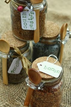 Flavored Sea Salts {DIY} #HandcraftedHolidays at www.girlichef.com Flavored Homemade Sea Salts - girlichef  Includes recipes for Southwestern Sea Salt, Bacon Sea Salt, and Porcini Sea Salt