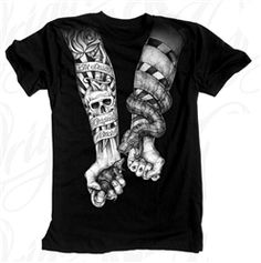 NEW! Original Black Duel T Shirt Black  Our Price: $28.00  Sale Price: $19.99   #Introducing #OriginalBlack #new #paint #original #artist #Tattoo #design #Artwork creation now #available at #cluburban.com #freeshipping #onSALe #SALE