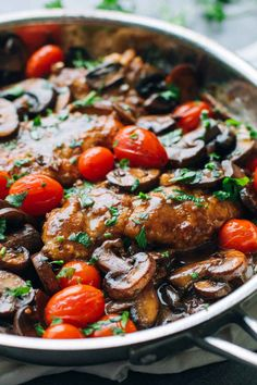 Drunken Chicken Marsala with Tomatoes - simple, gorgeously vibrant, and full of rich flavor.