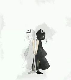 Kuro and Shiro. Interesing... Their name means Black and White...
