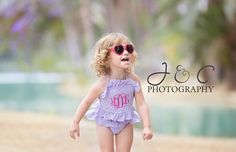 Cute Bathing Suit by MawMaw Made it, purple bathing suit, summer pictures, cute kids, photos, beach photos, adorable bathing suit!