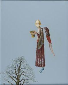 Traveler with Copper Receptacle - Stefan Caltia Magic Realism, Famous Words, Art Database, Fantastic Art, Short Film, Puppets, Watercolor, Illustration, Travel