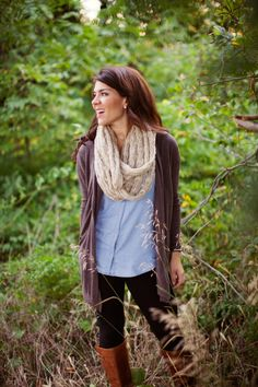 The perfect fall outfit. Layers!  Photo by Aubrey Erin Photography.  From www.madireid.com/blog