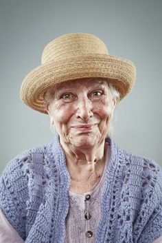 Irina Muravyova and Ilya Nodia are the artists behind this elderly portrait photography project. It features beautiful images of elderly people smiling.