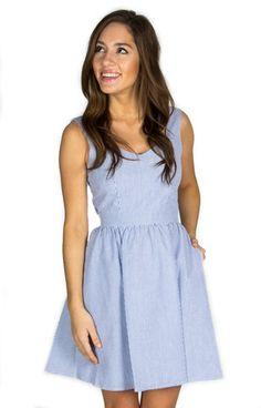 The Garrison Seersucker Dress – Lauren James Co.