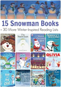 Snowman Books for Children + 35 MORE Winter-Inspired Reading Lists | The Jenny Evolution