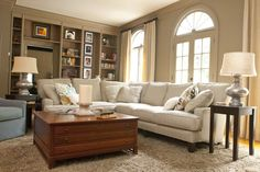 Sectional...end tables w lamps...accent chair