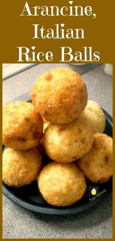 Italian Rice Balls. Easy to make, they take a little time but not hard to do, and of course all worth the effort once you bite into these little monsters! #Italian #riceballs #Arancine