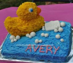 Homemade Rubber Ducky Cake
