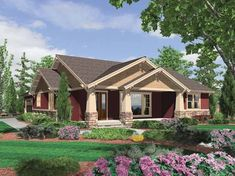 Cottage House Plan with 1891 Square Feet and 3 Bedrooms from Dream Home Source | House Plan Code DHSW65852