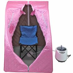 Buy Portable Home Steam Sauna Spa Tent Slimming Loss Weight Detox Therapy W/Chair Kerrogee Color: Pink Home Steam Sauna, Ways To Reduce Stress, Scallop Recipes, Hiking Equipment, Slim Body, Fast Weight Loss, Smooth Skin, Baby Car Seats, Detox