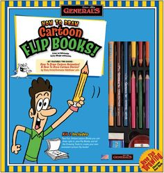How To Draw Cartoon Flip Books Kit 69102 - Kits & Sets $10.71