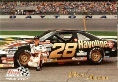 Davey Allison | Davey Allison with all black Havoline Ford Thunderbird | Flickr ...
