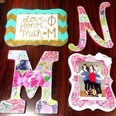 Adorable Phi Mu crafts