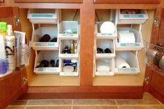 Under-Sink Bathroom Organizer | HouseLogic Storage and Organization Tips