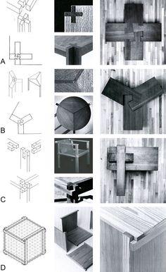 Furniture by Werner Blaser Reciprocal systems based on planar elements