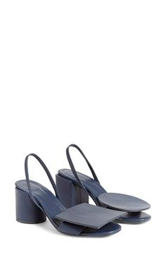 Free shipping and returns on Jacquemus 'Rond Carré' Slingback Sandal (Women) at Nordstrom.com. Debuting with the Jacquemus Resort 2016 collection, these subtly mismatched slingback sandals lend a touch of whimsical, modern panache to your street style.