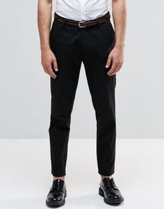 ASOS Skinny Smart Chino Trousers In Black