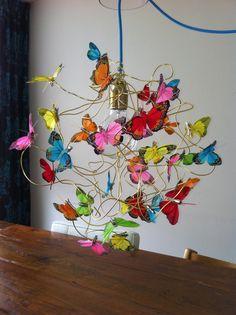 Vlinderlamp is gaaf geworden! Trots op.