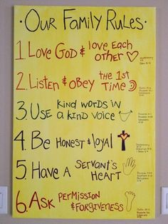 Family rules with bible verses - Click image to find more other Pinterest pins