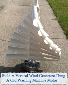 Build A Vertical Wind Generator Using A Old Washing Machine Motor