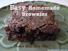 Easy Homemade Brownies - better than box mix brownies!
