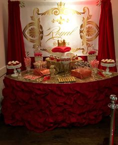 Royal prince baby shower party! See more party planning ideas at CatchMyParty.com!