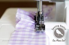 Sewing Basics: Ruffling + Easing with a Serger by Palak from Strawbazies and Make it Handmade | Sew Mama Sew |