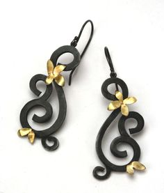 """$360   I found this on www.natashajewelry.com  The black and the gold are made for me... """"Santa Baby..."""" :-)"""