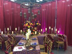 An exotic head table by Villa St. Clair & Intelligent Lighting Design