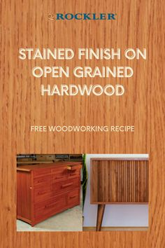 Learn how to successfully apply a stain to open grained hardwood, followed by a clear topcoat. Add color to species like red and white oak, ash, mahogany and others with classic pigment stains. Check out our easy to follow step-by-step video here! #CreateWithConfidence #stained #finish #opengrained #hardwood Rockler Woodworking, Woodworking Supplies, White Oak, Red And White, Water Based Wood Stain, Hinges For Cabinets, Oil Stains, Router Table, Wood Slab