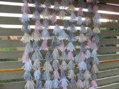 Tissue Paper Tassel Backdrop/Garland - Photo booth Garland - Wall Decor - Birthday Decor - Wedding Decor - Backdrop