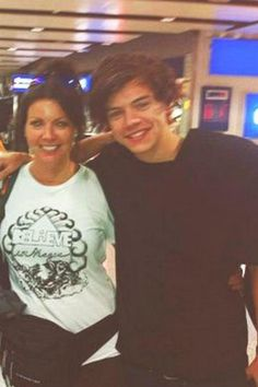 Harry with his mum in London