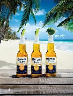 """Publicidad impresa """"Greedy"""" para Corona Beer"""