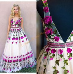 Prom Dresses 2017 3d Floral With V Neck And Backless Real Photo Colorful Embroidery Appliques Tulle Beautiful Red Carpet Gowns Petal Power Prom Dress Online Prom Dress Short From Uniquebridalboutique, $162.29  Dhgate.Com