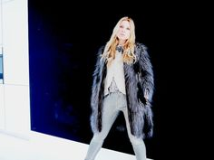 """Today I decided for my favourite Mother metallic jeans, a """"just female"""" shirt, a very slim tailored leather jacket by Corsia and my all time loved fake fur coat from ZARA! Except the Mother jeans all other items have been part of my wardrobe for a while, but I never …"""