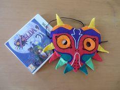 Majora's Mask - Le masque de Majora de la légende de Zelda, fait main en feutrine.