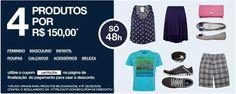 Aproveite a oferta imperdível para adquirir 4 produtos por apenas R$ 150,00. São mais de 3 mil itens selecionados e apenas 48hs para aproveitar. Não perca!