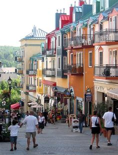 Mont Tremblant, Quebec, Canada. Went here with Michelle and Tom when Scott was our only child