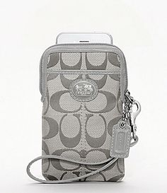 Coach iphone case.   Of course I need this!! My phone needs its own coach purse if I got one right. Lol -N. W.