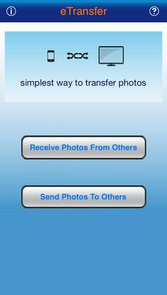 eTransfer is a tool for you to transfer photos among pc, iPod, iPhone, iPad.  eTransfer does not need iTunes. It supports to transfer photo:  iPhone to iPhone iPhone to iPad iPad to iPad ipod/iphone/iPad to pc pc to ipod/iphone/iPad  eTransfer does not need extra software. All you need is the device that installed eTransfer and web browser on any os.  4MB
