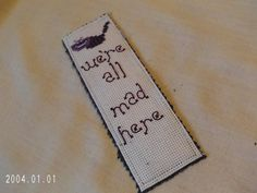 Cheshire Cat Quote Cross Stitch Bookmark by SnarkyLittleStitcher, $8.00