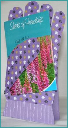 Gardening Glove card making template & cut files