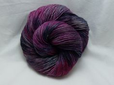 Handdyed Sparkle Sock Yarn in Bumbleberry Jam by dragonflydyeworks, $23.00