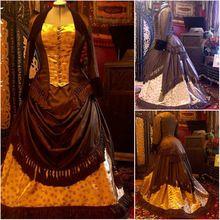 Hecho a la medida vestido lolita gótica del cordón blanco / vestido de boda Guerra Scarlett vestido victoriano vestido Civil de 1860 Disfraces Vintage 647 R-(China (Mainland))
