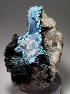 Minerals and Crystals — Chalcedony coating Quartz coating Shattuckite -...