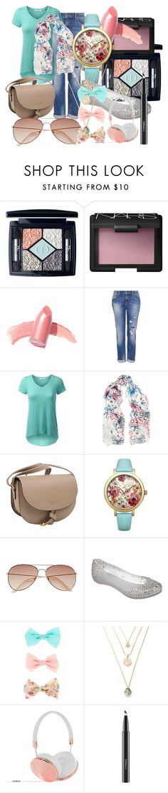 """""""Nearly spring!"""" by maralf-1 on Polyvore featuring Christian Dior, NARS Cosmetics, Elizabeth Arden, Hallhuber, Maje, Lipsy, H&M, Melissa, Frends and MAC Cosmetics"""