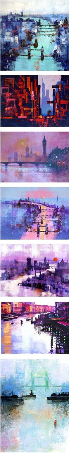 art,색을 탐하다 :: [아크릴물감작품] 콜린러펠의 아크릴 물감을 활용한 작품세계