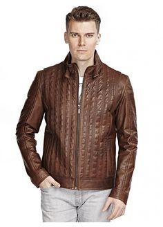 Ember Kahve Deri Ceket / Men Leather Jacket